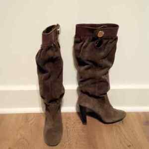 Michael Kors Collection Suede Tall Boots, Knee High