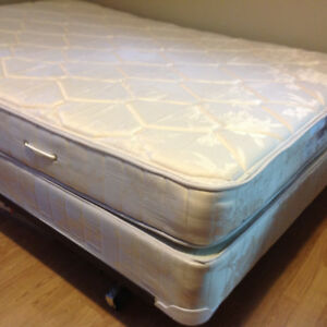 Double mattress and matching box spring for sale
