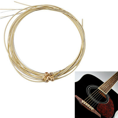 Best New Set of 6 Bronze Steel Strings For Acoustic Guitar Good Quality