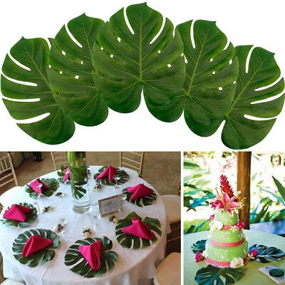Green Artificial Tropical Palm Leaves Hawaiian Luau Party Table Decor US STOCK (Luau Parties)