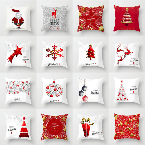 "18x18"" Christmas Pillow Case Polyester Home Sofa Car Throw C"