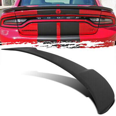 For 11-18 Dodge Charger Hellcat Style Matte Black ABS Trunk Deck Spoiler Wing