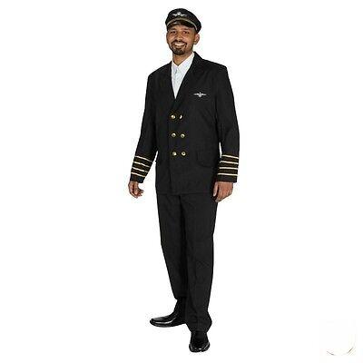 IAL Herren Fasching Karneval Kostüm Pilot Pilotenjacke Air Luft Käpitän Gr. - Pilot Jacke Kostüm