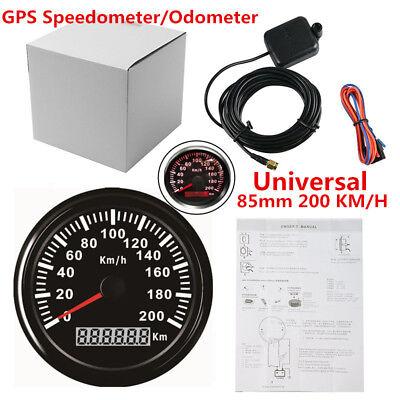 85mm 200 KM/H Car Motor Stainless GPS Speedometer Waterproof Digital Gauges Kit