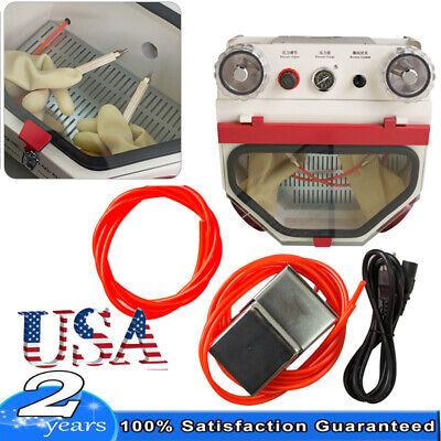 Dental Lab 2 Double Pen Fine Sandblaster Unit Sandblasting Polishing Equipment
