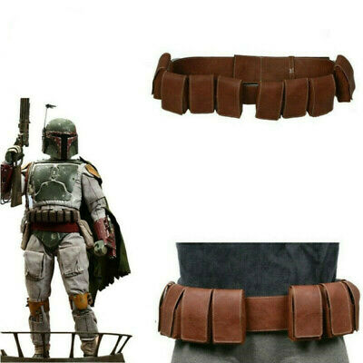 Xcoser SW Boba Fett PU Leather Cosplay Belt Gun Holster Pounches Props For Men