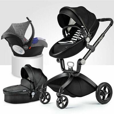 3 in1 Bagong panganak na Baby Pram Car Seat Pushchair Travel System Buggy Stroller