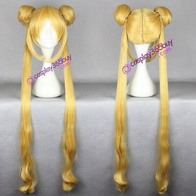 (cosplay365buy) Sailor Moon Serena Tsukino cosplay wig yellow anime wig - Anime Cosplay Buy
