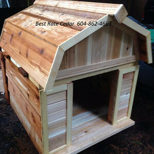 Dog houses 4 sizes insulated all cedar removable roofs