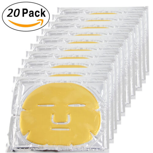 20pcs Gold Bio Collagen Facial Face Mask 24K Revitalising Firming anti-aging Anti-Aging Products