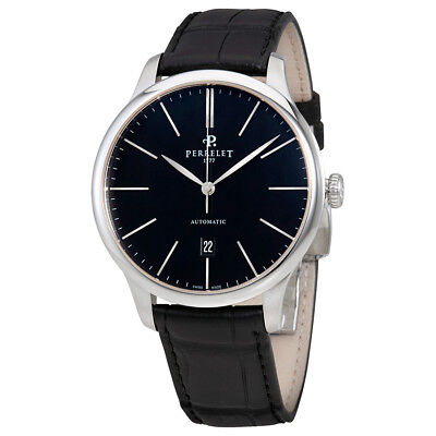 Perrelet First Class Black Dial Automatic Mens Watch A1049/2