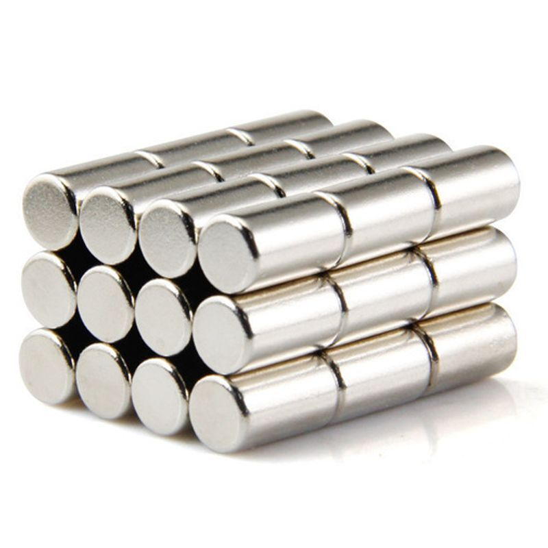 Neodym Magnete super stark Scheiben Würfel N35 N45 N50 doppelt vernickelt Scheibe - Ø 6 X 10mm