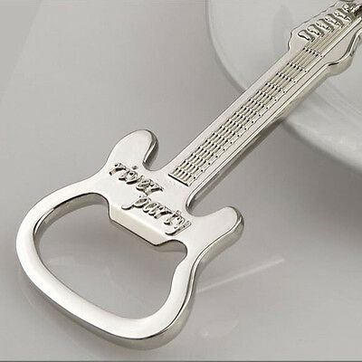 1 Pcs Metal Guitar Key Chain Ring Keychain Creative Beer Bottle Opener SH