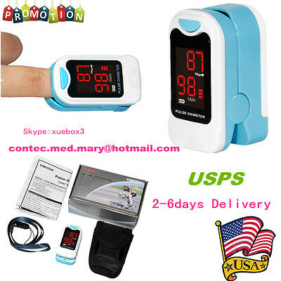 Fingertip Pulse Oximeter Blood Oxygen Monitor Case Lanyardhot Salecefda