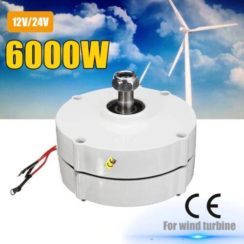 6000W 12V/24V 3 Phase Brushless Wind Turbine Generator Motor Permanent Magnet