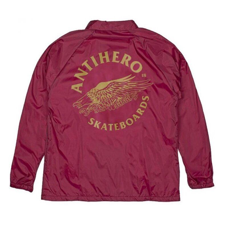 Anti Hero ANTIEAGLE Coach Windbreaker Skateboard Jacket MAROON XL