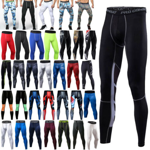 Herren Kompression Hose Leggings Fitness Training Sporthose Laufhose Leggins DE