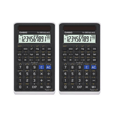 2 Pack Casio FX260SOLAR-II-S-IH Solar Scientific Calculator, FX260