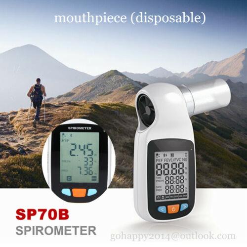 Digital Spirometer Lung Breathing Diagnostic Spirometry Volumetric routine test