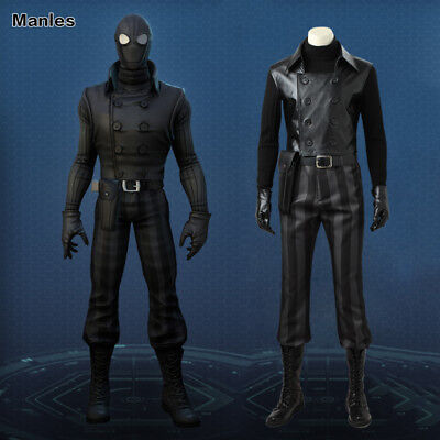 2017 Spiderman Noir Cosplay Costume Halloween Christmas Fancy Dress Outfit - 2017 Halloween Costumes Mens
