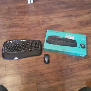 wireless keyboard and mouse (Logitech mk550)