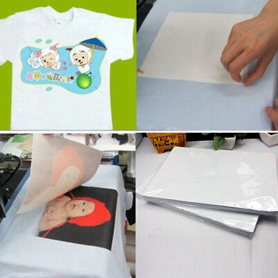 100sheets A4 Dye Sublimation Heat Transfer Paper For Polyester Cotton T-shirt