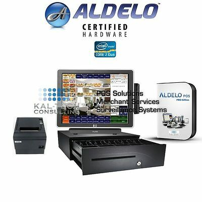 Aldelo Pro Sandwich Shop Hp All-in-one Complete Pos System 3gb Ram Ssd Hdd