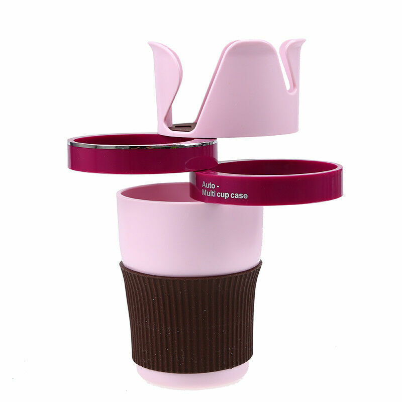 Rotatable 5 in 1 Car Cup Holder Case Glasses Bottle Storage Organizer Universal