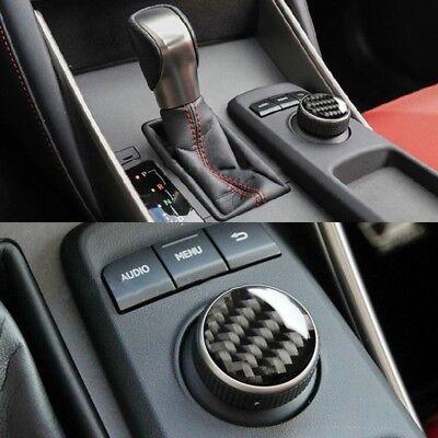 Fit For LEXUS IS300 2014-2018 Real Carbon Fiber Center Control Knob Cover Trim - Lexus Is300 Trim