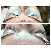 Eyelash Extension Classic Full Set $65. Limited Time Only.