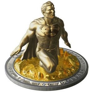 Amazing Gift for Comic Fans- Superman Sculpture Coin by RCM!