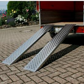6ft galvanised loading ramps van truck car trailer quad lawnmowers
