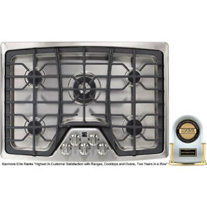 "Brand New Kenmore Elite 30"" Gas 5 burner cooktop stainless"