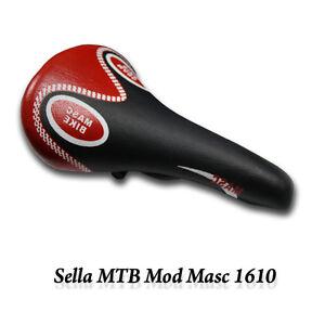 SELLA-SELLINO-BICI-BICICLETTA-MTB-MOD-MASC-1610-COLORE-NERO-ROSSO