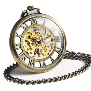 Mechanical Pocket Watch with Chain - BRAND NEW!!!