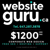 WebsiteGuru.ca - QUALITY - Corporate Web Design - 3 YRS WARRANTY