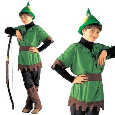 Kinder Kostüm Bogenschütze Gr. 140 Robin Hood Krieger - Krieger Bogenschütze Kostüm