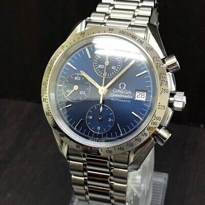 OMEGA Watch Speedmaster 3511 80 Men's Blue Automatic St.Steel Chronograph