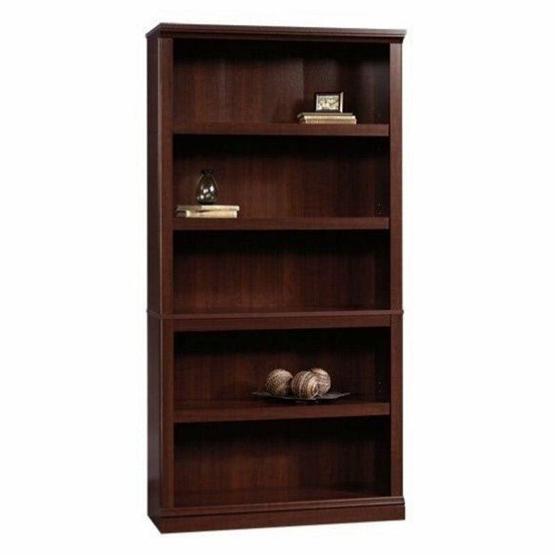 Sauder 5 Shelf Bookcase in Select Cherry