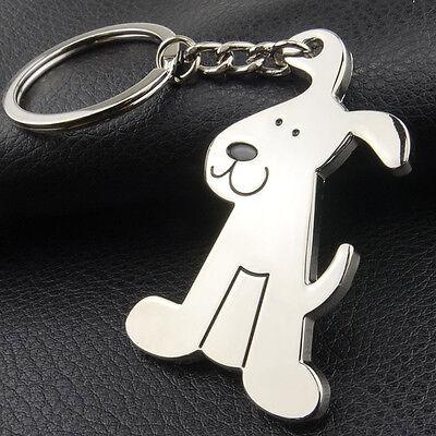 Adorable Dog Puppy Metal Keychain Key Chain Ring Keyring Key Fob Funny - Funny Keychains