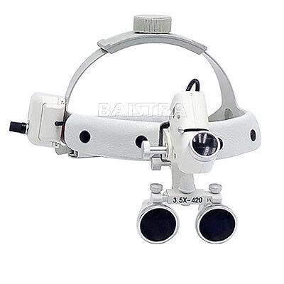 Dental Surgical Medical Headband Type Binocular Loupes 3.5x With 5w Led Light Ce