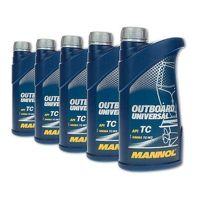 5 (5x1) Liter MANNOL Outboard Universal 2-Takt-Öl für Jet Ski / Außenborder
