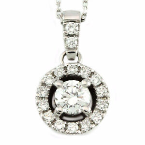 14k White Gold Diamond Pendant w/chain (0.68 tdw) #1119