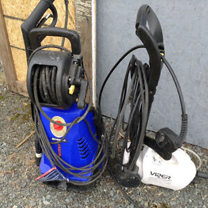 2 working  pressure washers
