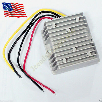 Voltage Reducer Converter Regulator 48v Volt To 12v 10a Waterproof For Golf Cart