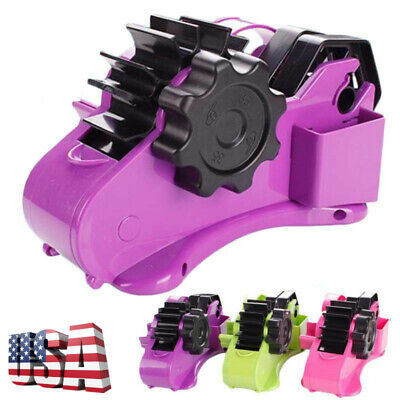 New 2-in-1 Heavy Duty Portable Recycled Desktop Tape Dispenser Home Office Tool