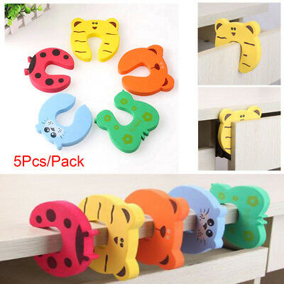 - 5/10PCS Children Cartoon Door Stopper Clip Clamp Pinch Hand Security Baby Safety