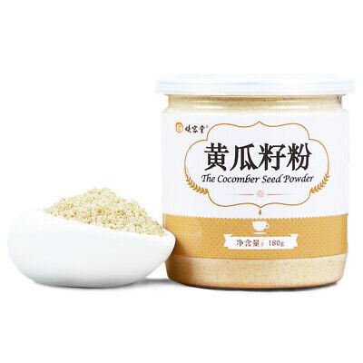 Cucumber Seed Powder Grains Cereal China Snack 中国食品无糖代餐补钙老黄瓜子粉 黄瓜籽粉180g/罐](Cucumber Snack)