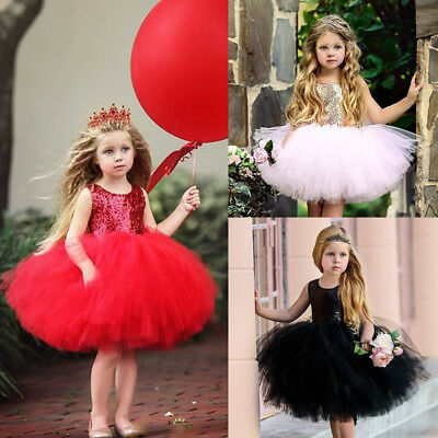 Toddler Girls Princess Dress Kids Party Wedding Pageant Lace Sequin Tutu Dresses](Party Dresses Toddlers)