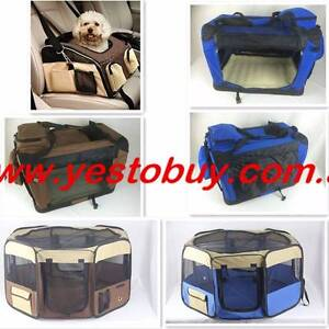 Pet Soft Crate Dog Cat Carrier Travel Cage Playpen Enclosure run Oakleigh Monash Area Preview